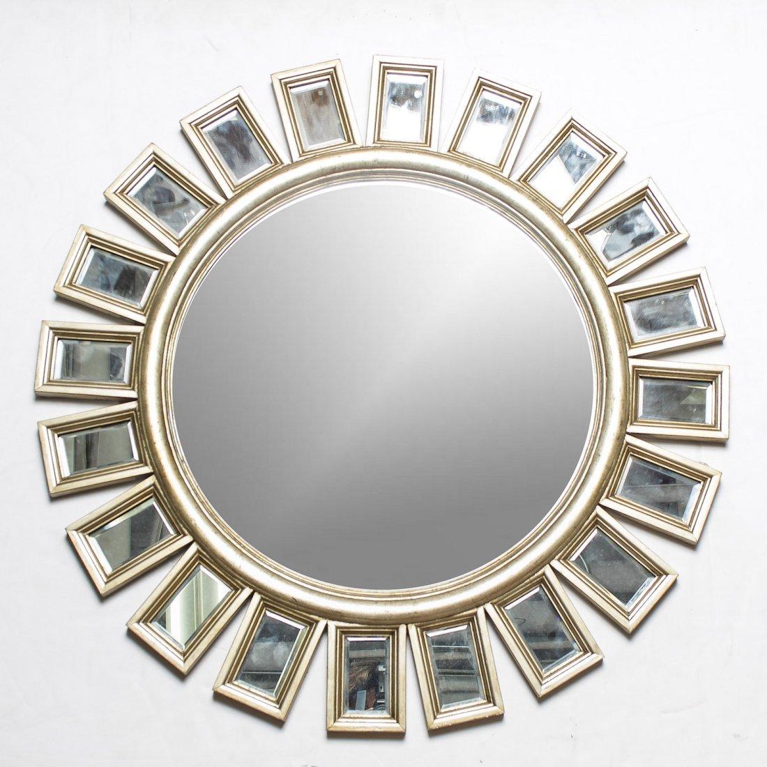 Mid-Century Modern Sunburst Wall Mirror