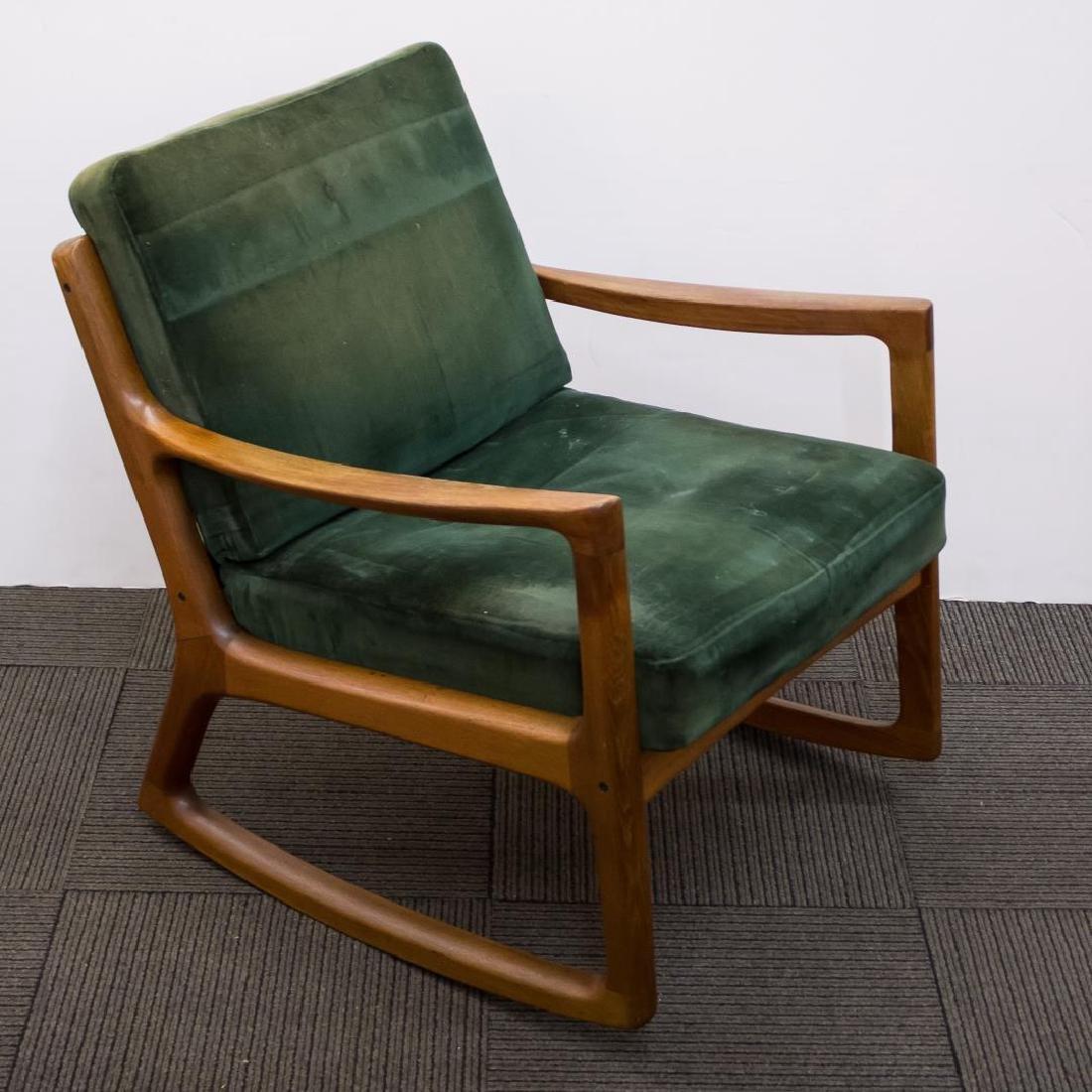 Ole Wanscher Danish Modern Teakwood Rocking Chair