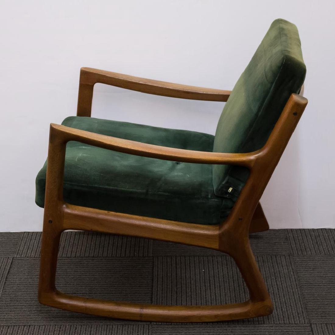 Ole Wanscher Danish Modern Teakwood Rocking Chair - 3
