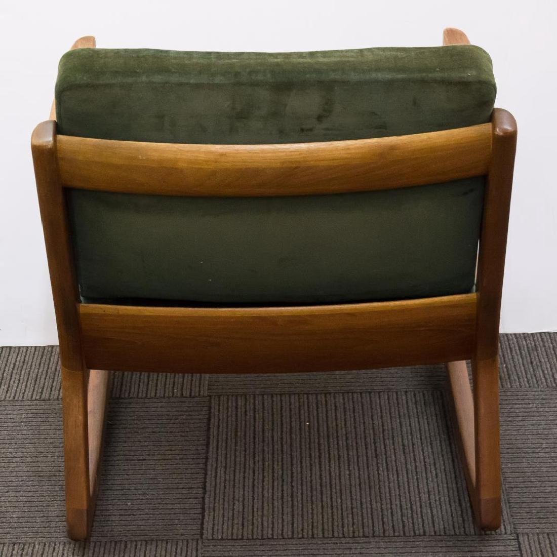 Ole Wanscher Danish Modern Teakwood Rocking Chair - 4
