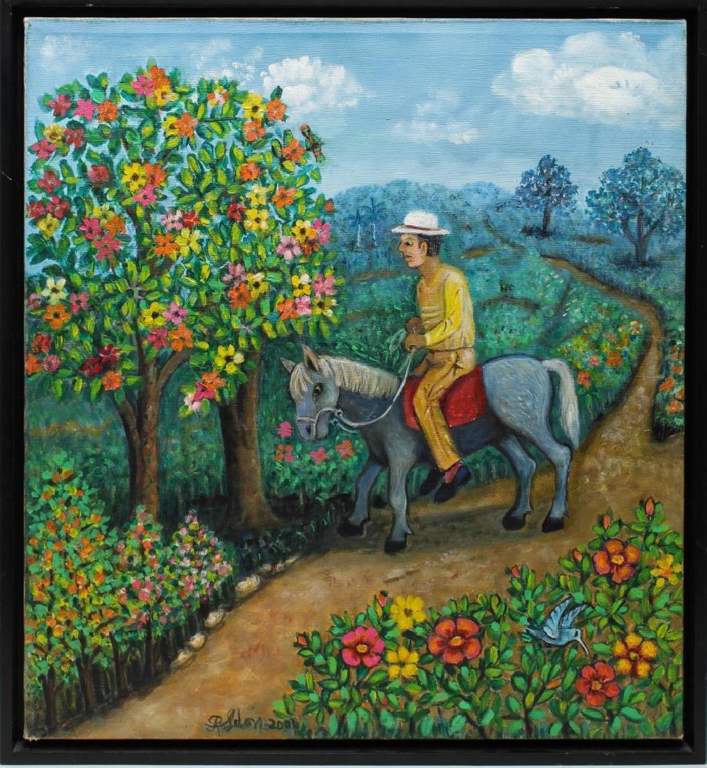Reina Ledon Perez (Cuban, b. 1927)- Folk Painting