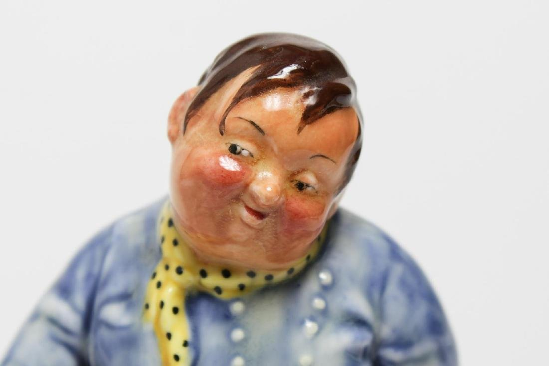 "Royal Doulton Charles Dickens ""Fat Boy"" Figurine - 4"