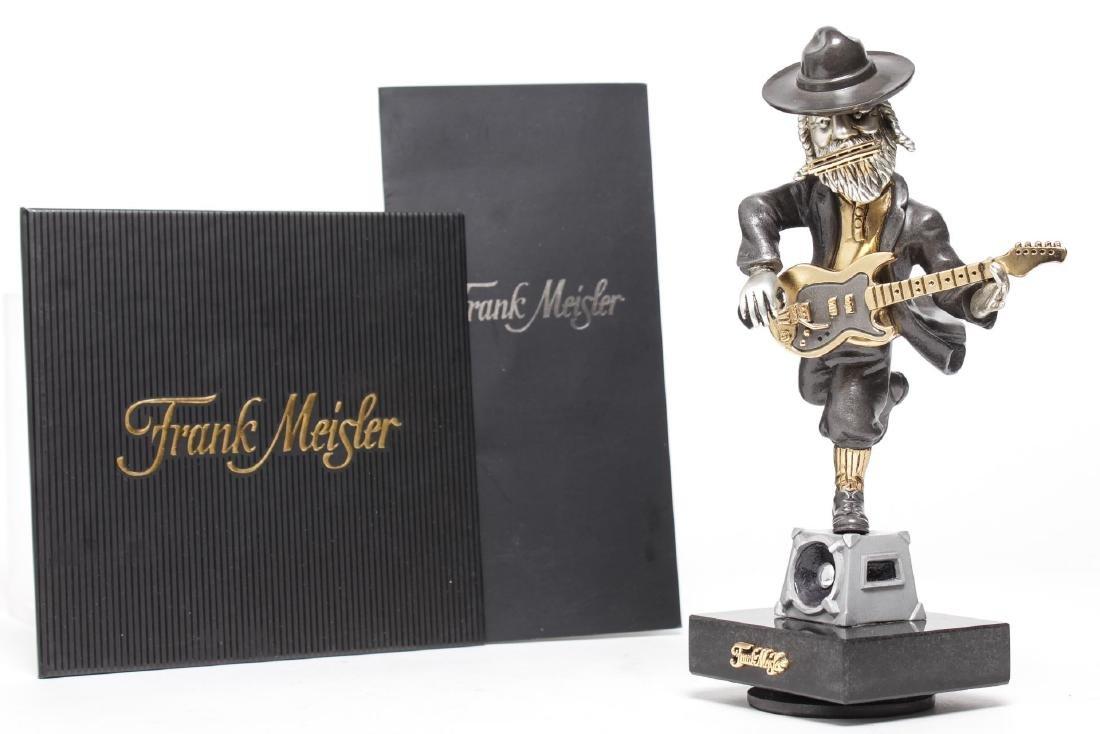 Frank Meisler- Judaica Sculpture of Guitar Player