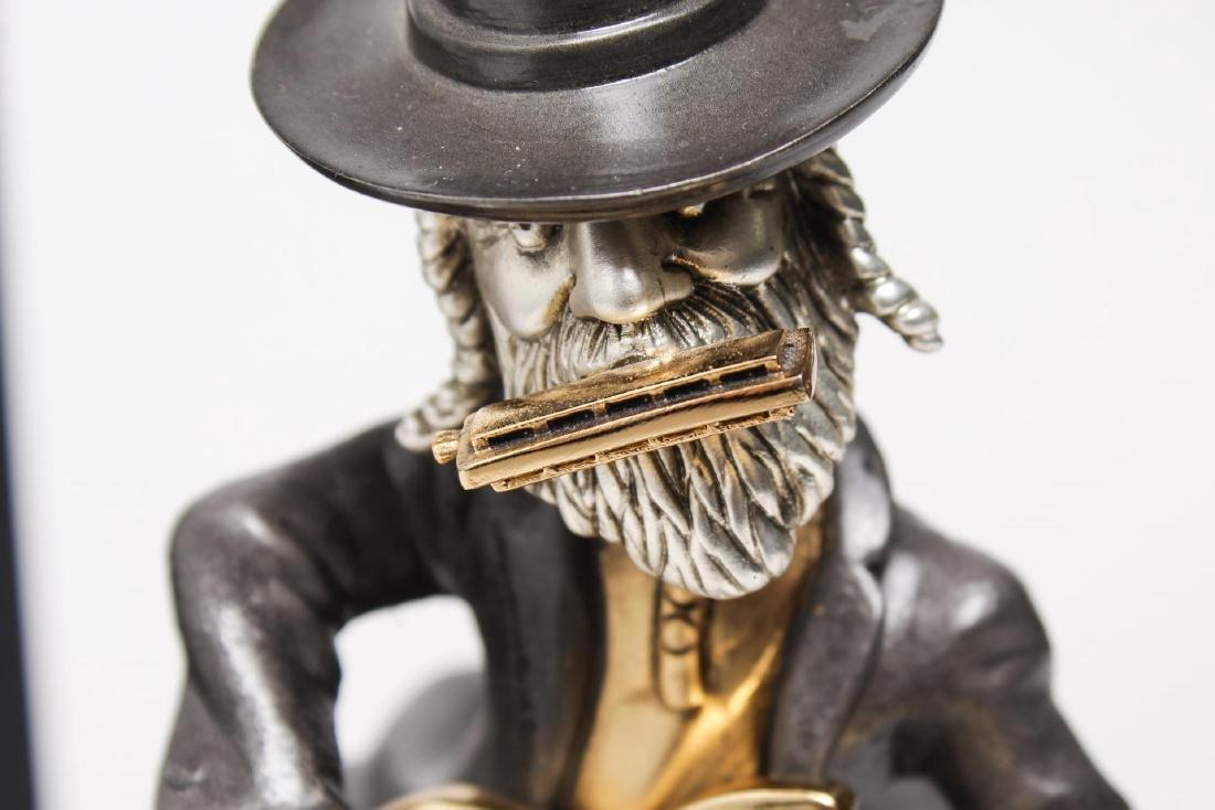 Frank Meisler- Judaica Sculpture of Guitar Player - 2