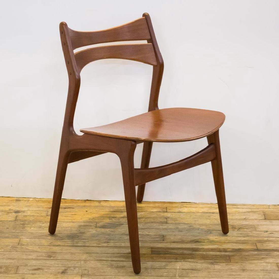 Erik Buck Danish Modern Side Chairs, Set of 4 - 3
