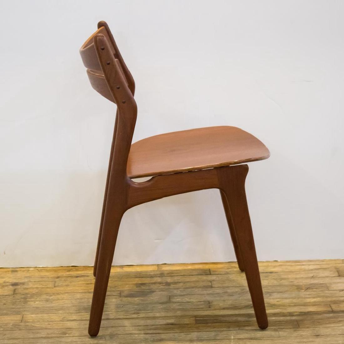 Erik Buck Danish Modern Side Chairs, Set of 4 - 4
