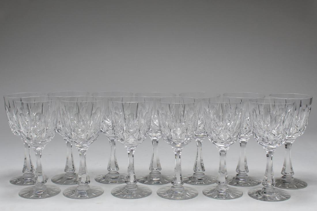 Hawkes Wine Glasses, Cut Crystal, Set of 13