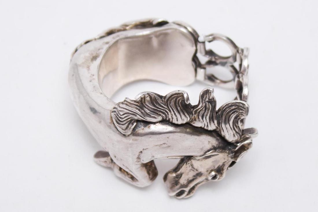 Taxco Mexican Silver Horse Bracelet, Ignacio Gomez - 2