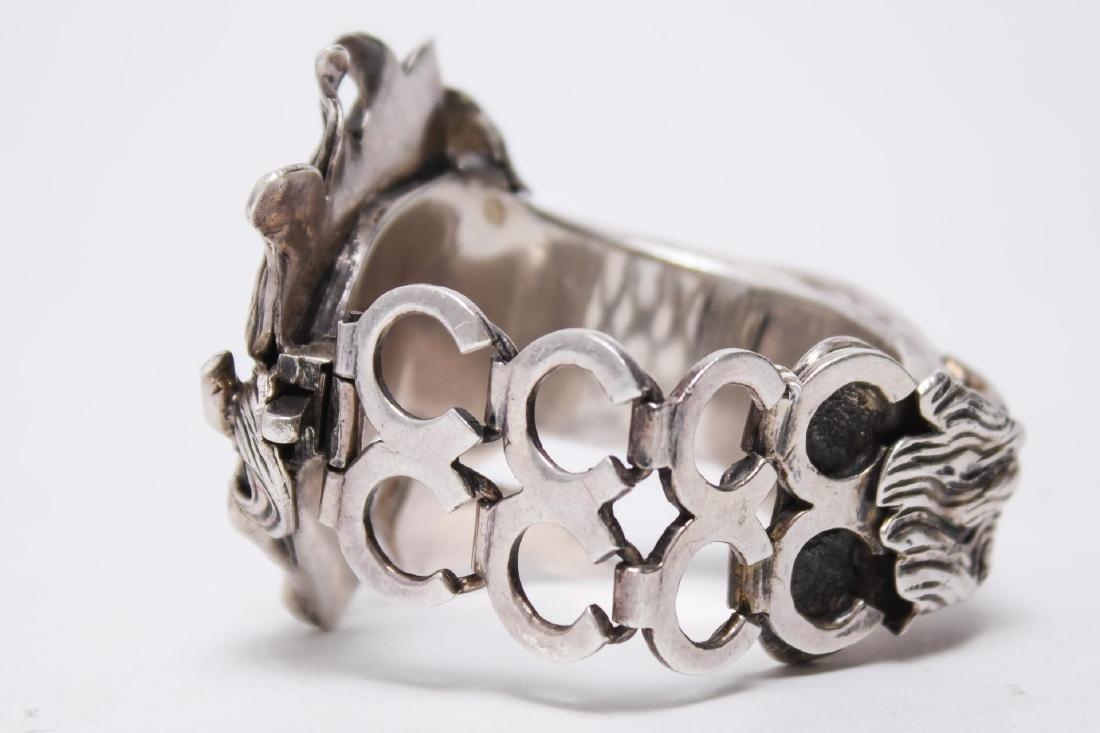 Taxco Mexican Silver Horse Bracelet, Ignacio Gomez - 6