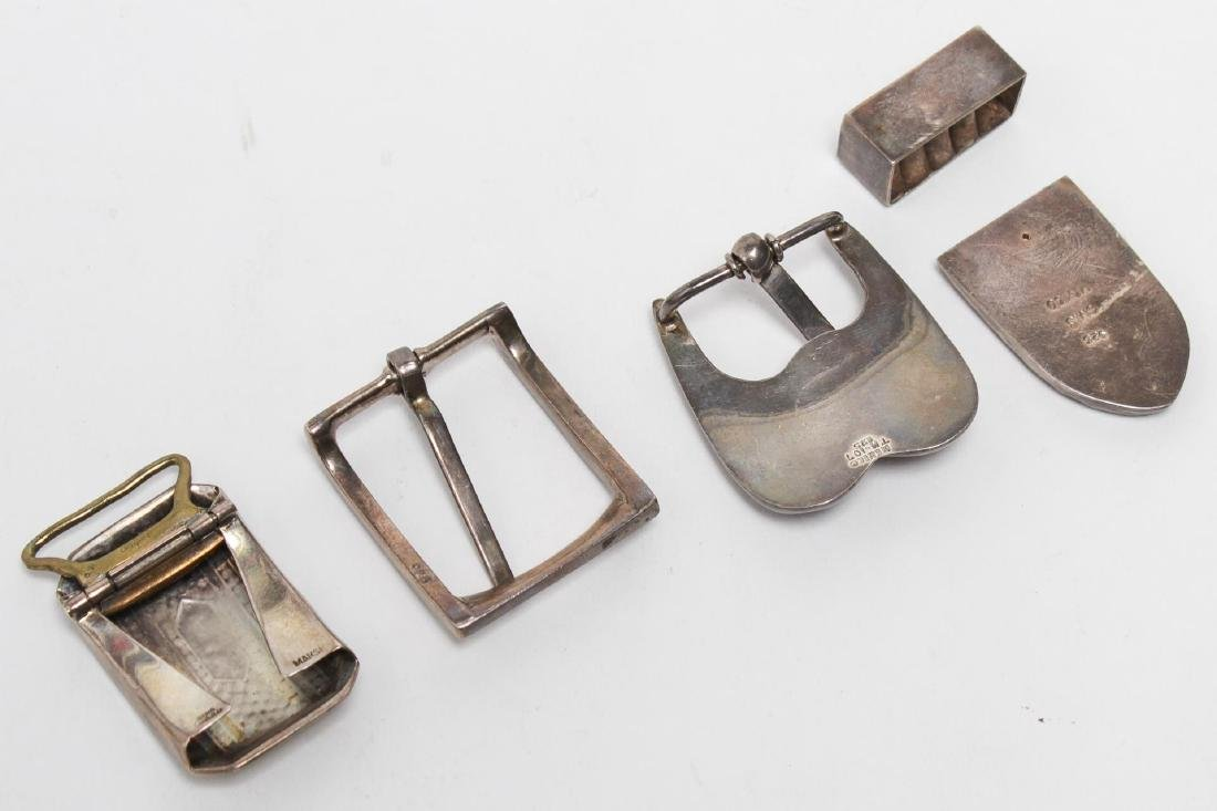 Sterling Silver Buckles, 4 inc. Mexican Modernist - 2