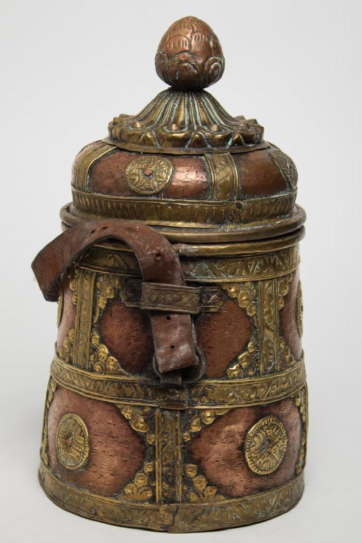 Middle Eastern Islamic Bedouin Copper & Brass Pail - 2