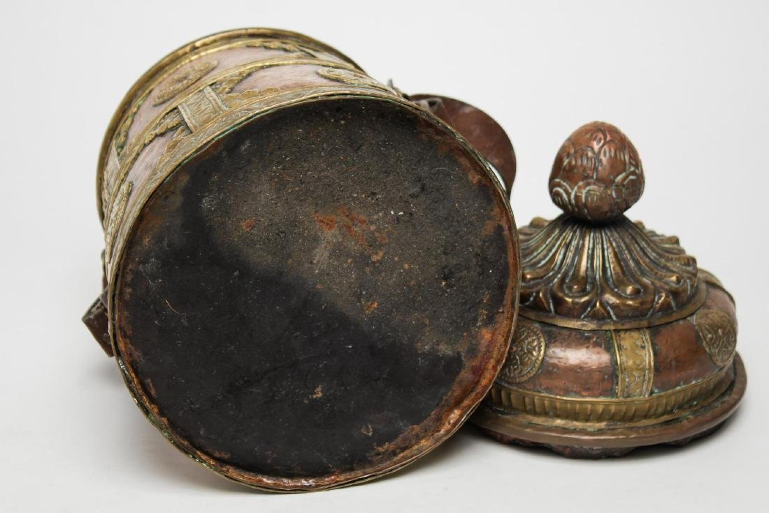 Middle Eastern Islamic Bedouin Copper & Brass Pail - 5