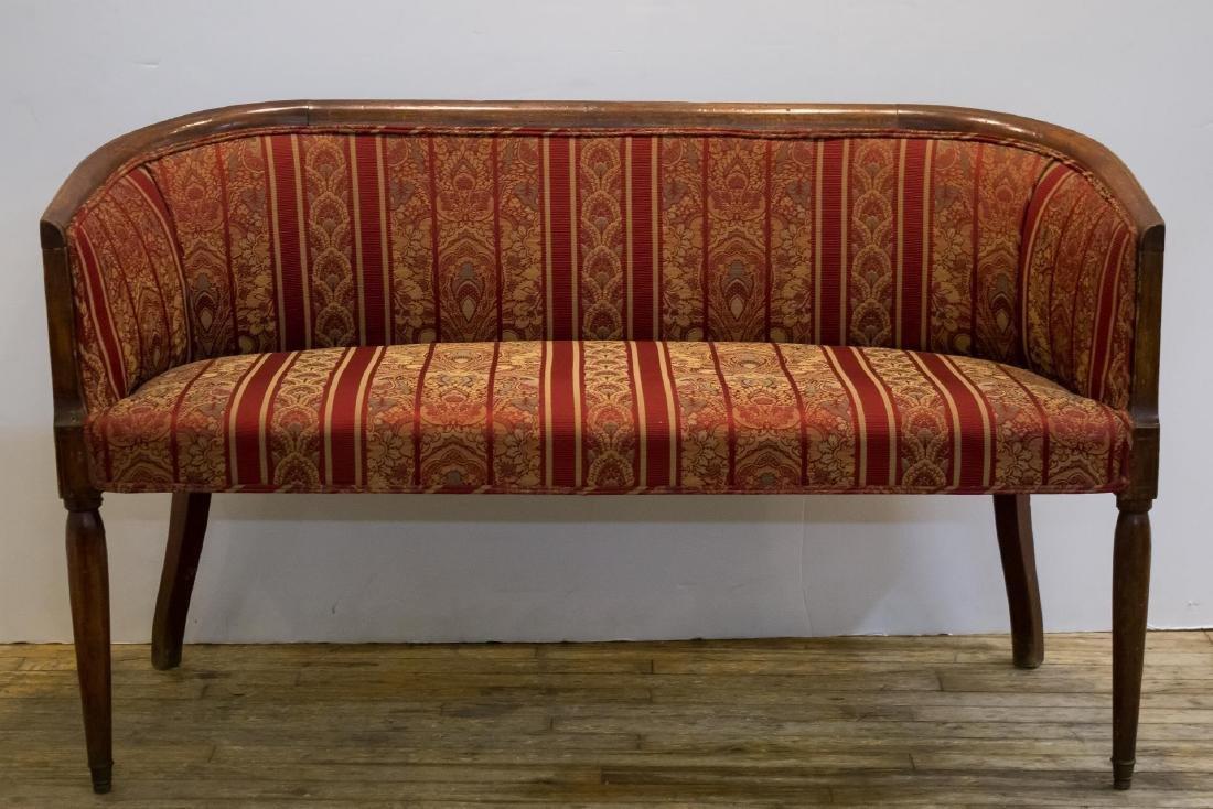 Fruitwood Settee or Sofa, Antique