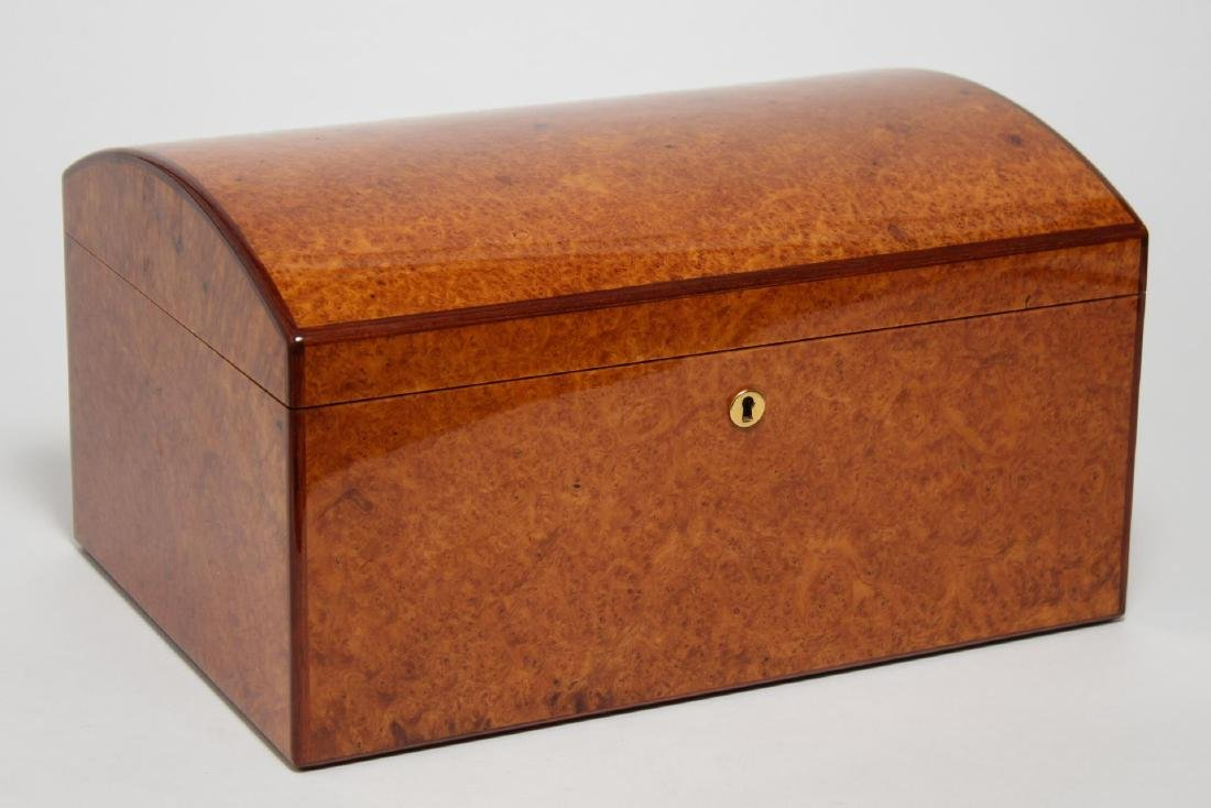 Vintage Cigar Humidor, Burlwood