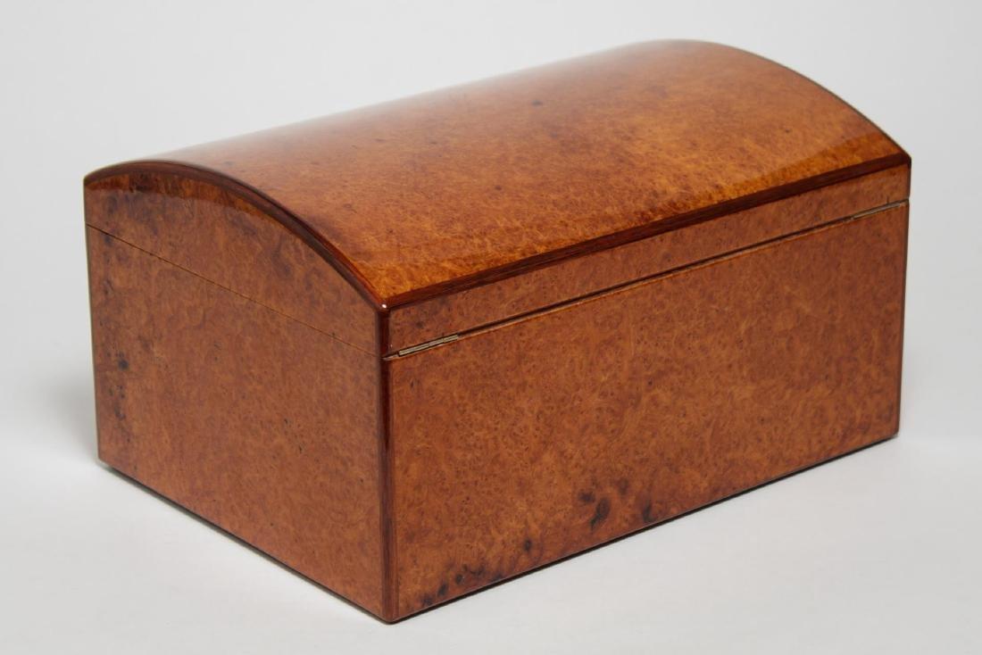 Vintage Cigar Humidor, Burlwood - 2
