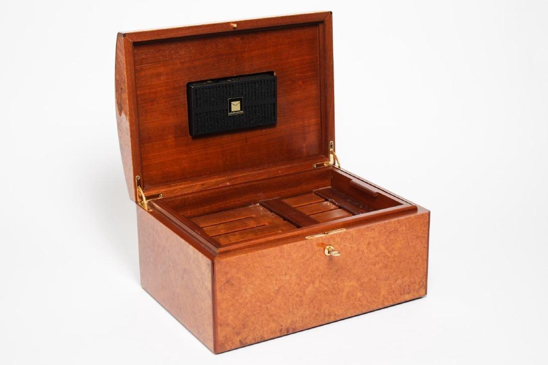 Vintage Cigar Humidor, Burlwood - 3