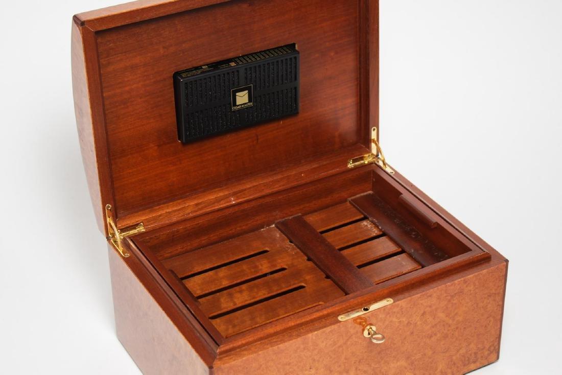 Vintage Cigar Humidor, Burlwood - 4