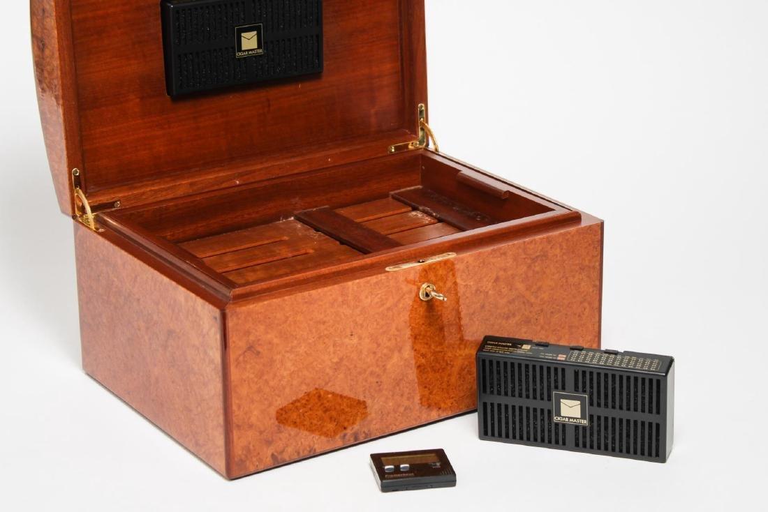 Vintage Cigar Humidor, Burlwood - 6