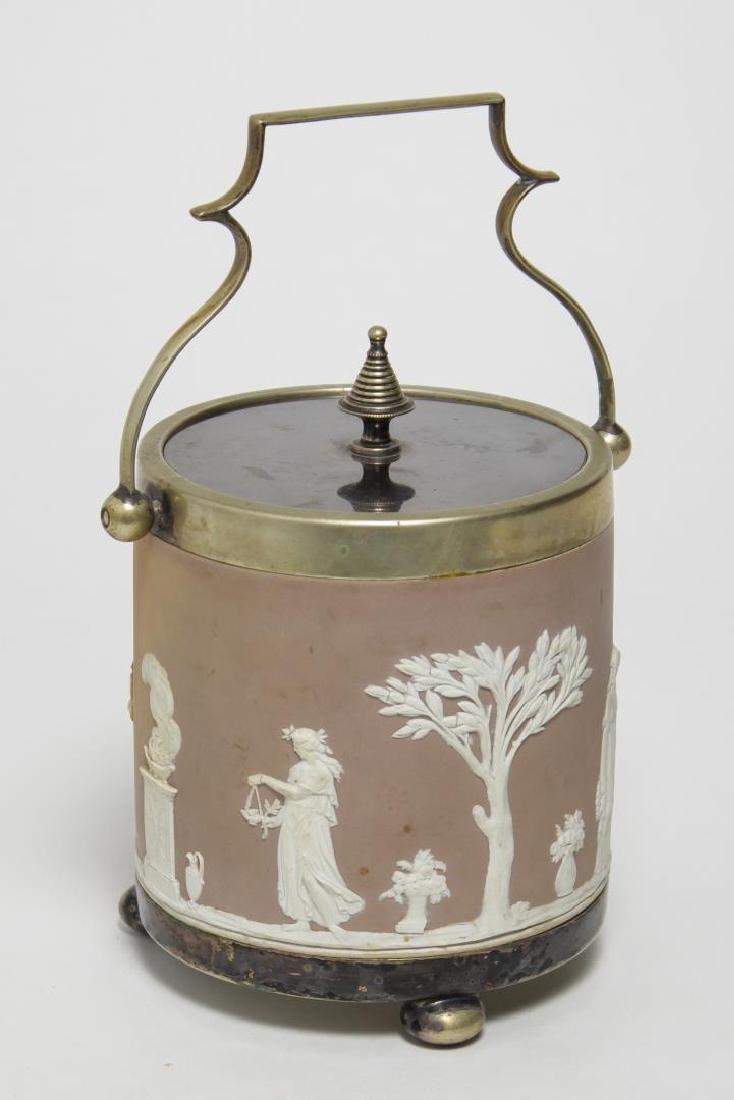 Wedgwood Victorian Jasperware Biscuit Barrel, 1868