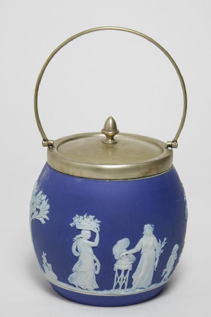Wedgwood Jasperware Biscuit Barrel, Antique