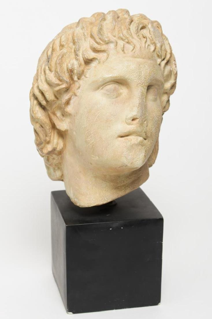 Hellenistic-Manner Cast Stone Bust, Head of Youth