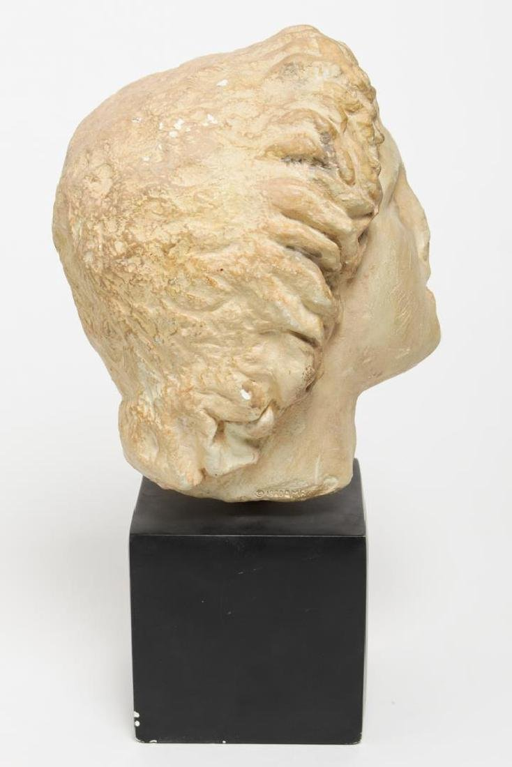 Hellenistic-Manner Cast Stone Bust, Head of Youth - 2