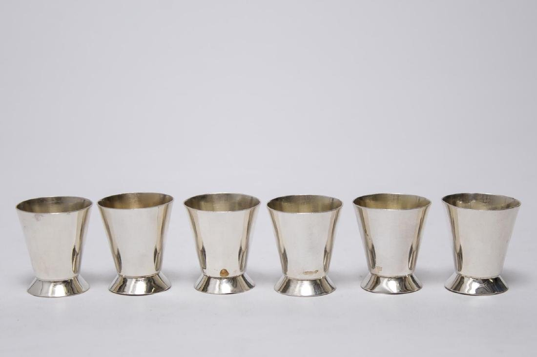 Sterling Silver Dram Cups, Set of 6