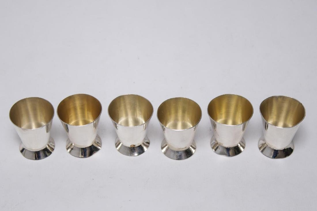 Sterling Silver Dram Cups, Set of 6 - 2