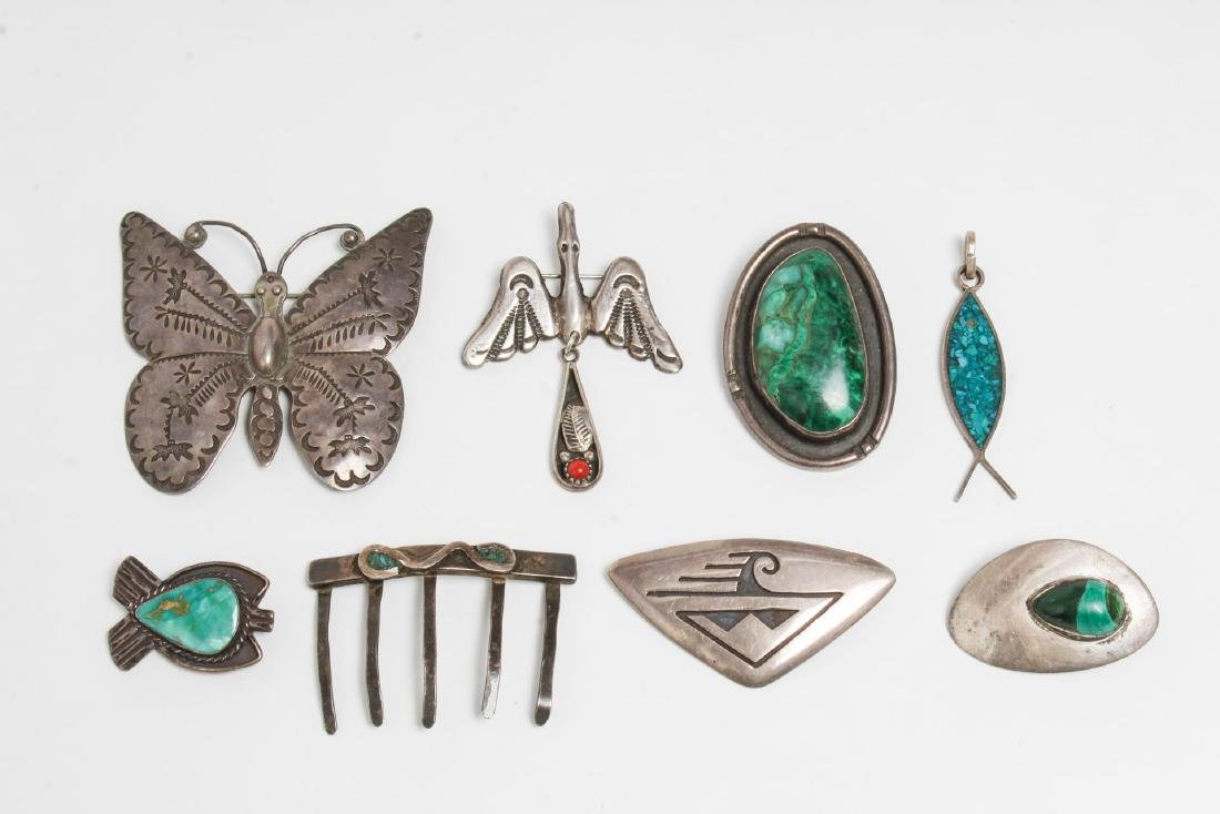 Ameican Indian & Other Silver & Stones Jewelry