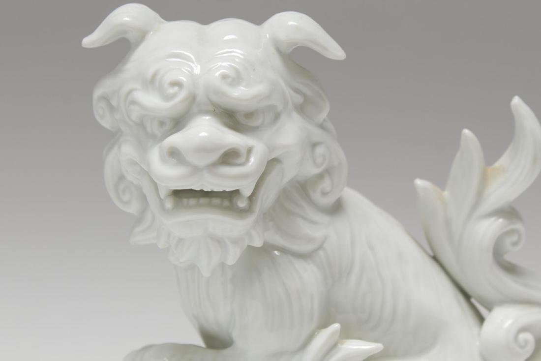 Blanc de Chine Porcelain Foo Dogs, Pair - 4
