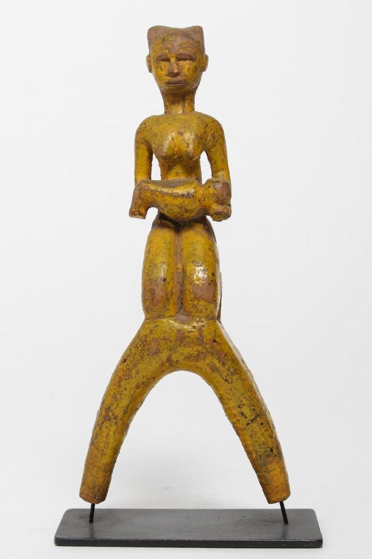 Baule Ivory Coast African Carved Wood Slingshot