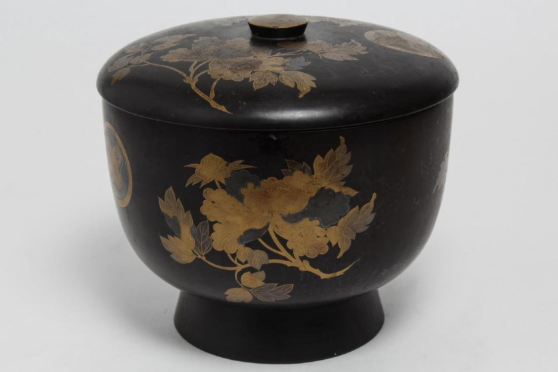 Japanese Lacquerware Covered Food Bowl & Box - 2