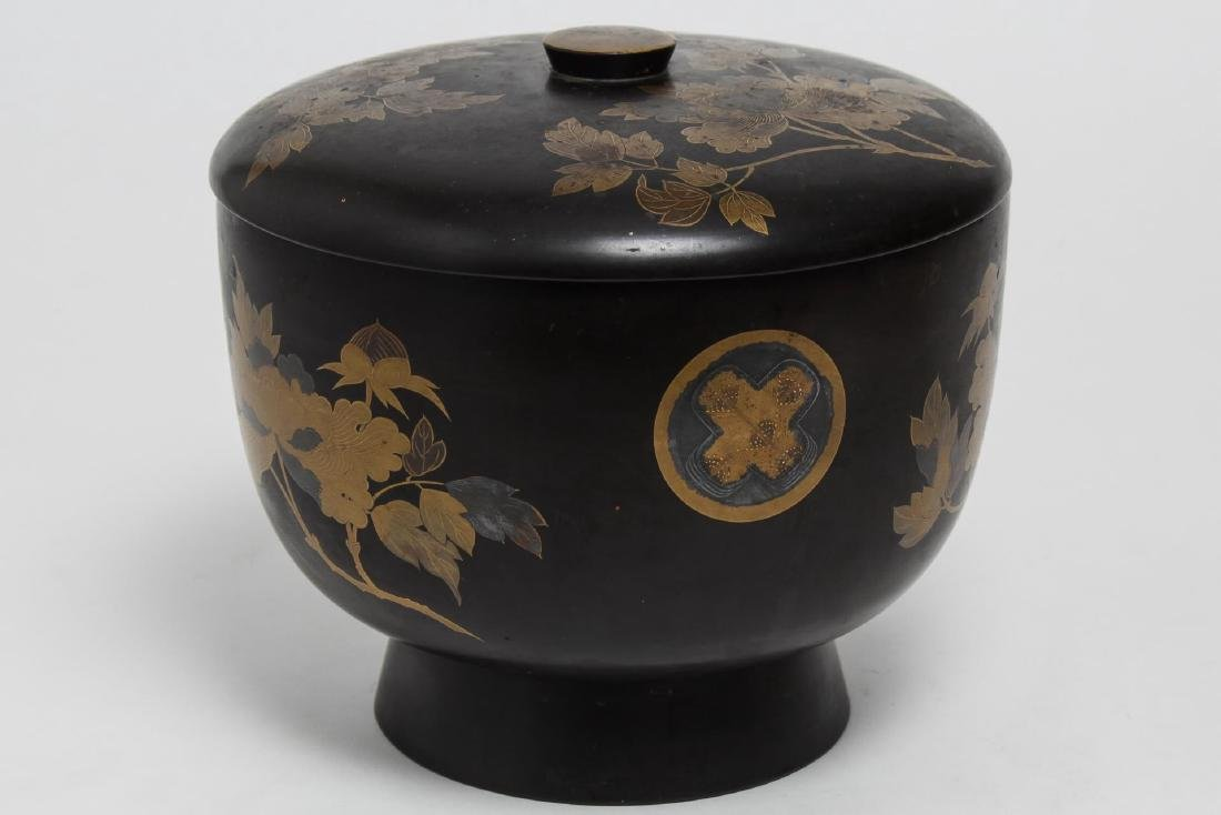 Japanese Lacquerware Covered Food Bowl & Box - 3