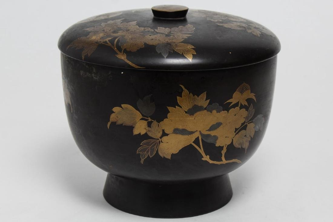 Japanese Lacquerware Covered Food Bowl & Box - 4