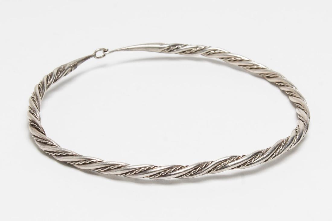 MMA Viking-Manner Silver Torque Necklace, Vintage