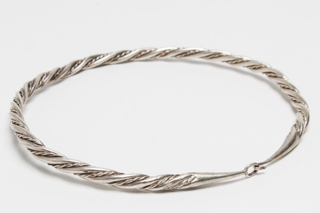 MMA Viking-Manner Silver Torque Necklace, Vintage - 3