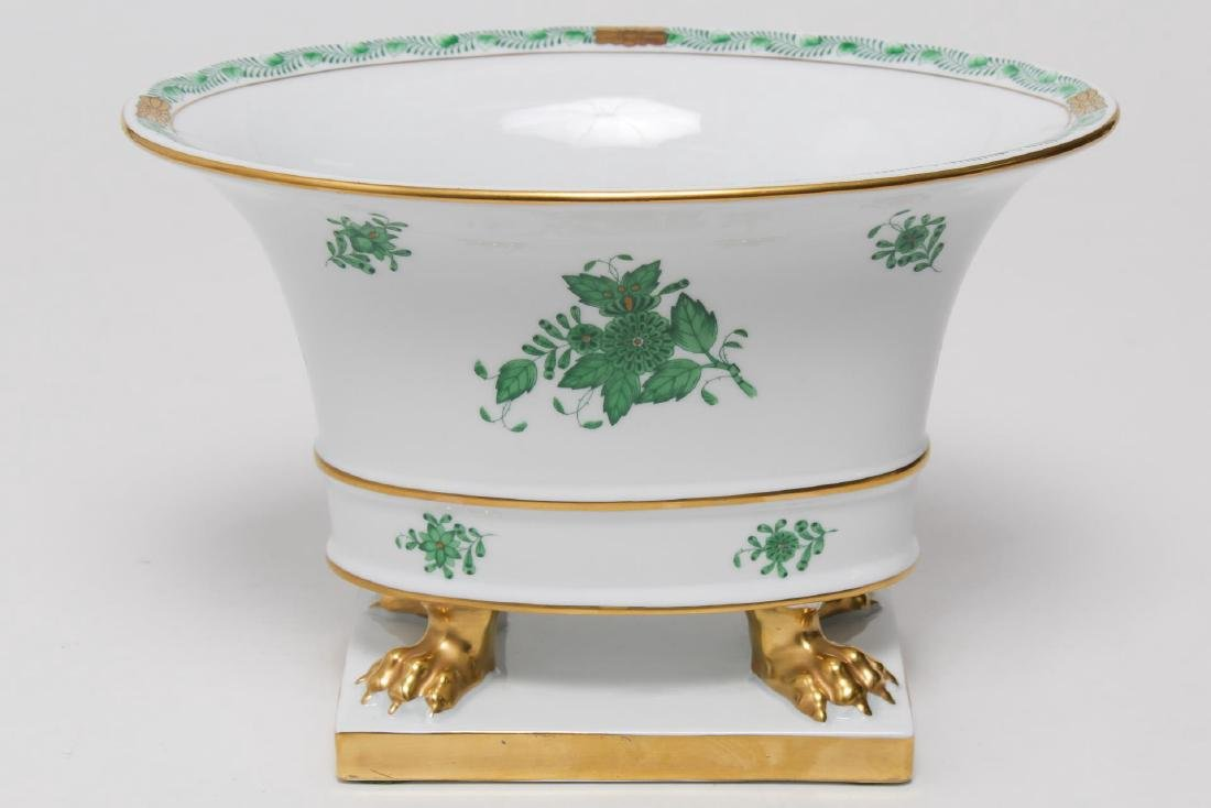 "Herend Porcelain ""Green Chinese Bouquet"" Planter"