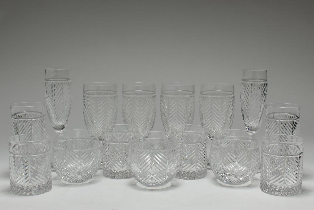 """Ralph Lauren """"Herringbone"""" Glasses & Stemware, 15"""