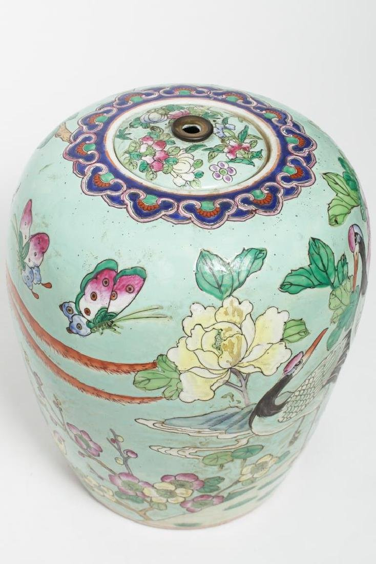 Chinese Qing Dynasty Famille Rose Ginger Jar - 4