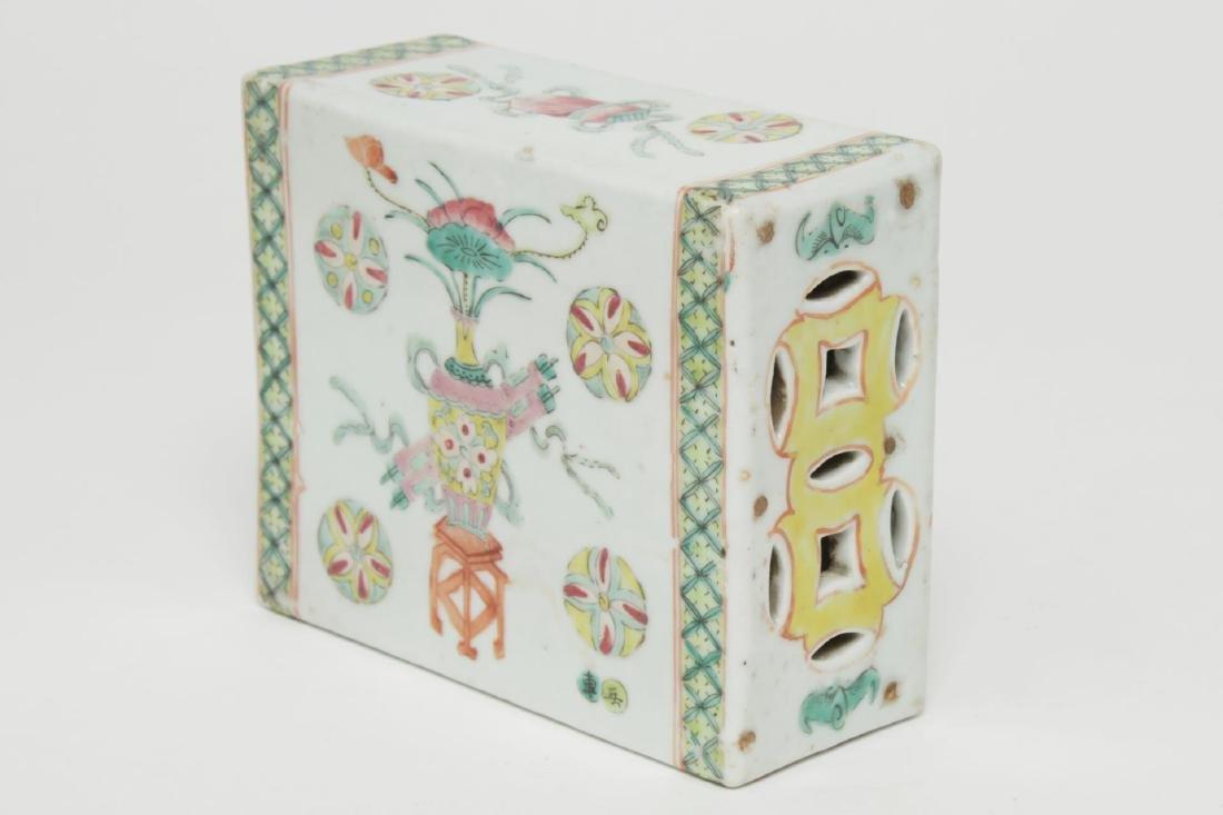 Chinese Qing Dynasty Porcelain Incense Holder