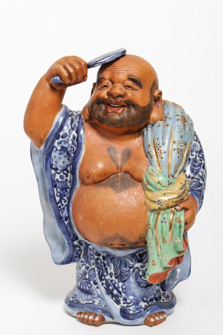 Japanese Ceramic Satsuma Figure of Hotei
