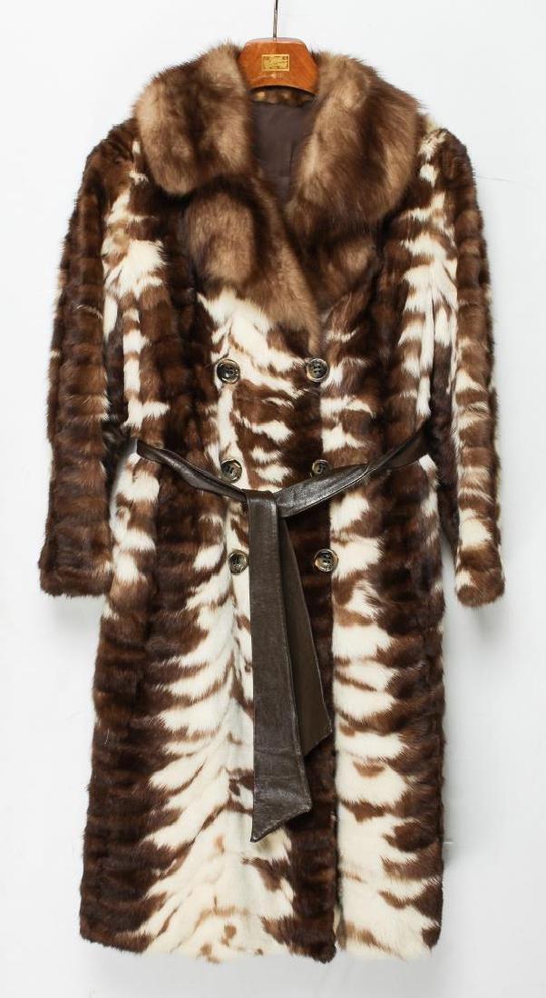 Mink Coat, Vintage Fur in Patchwork Stripes
