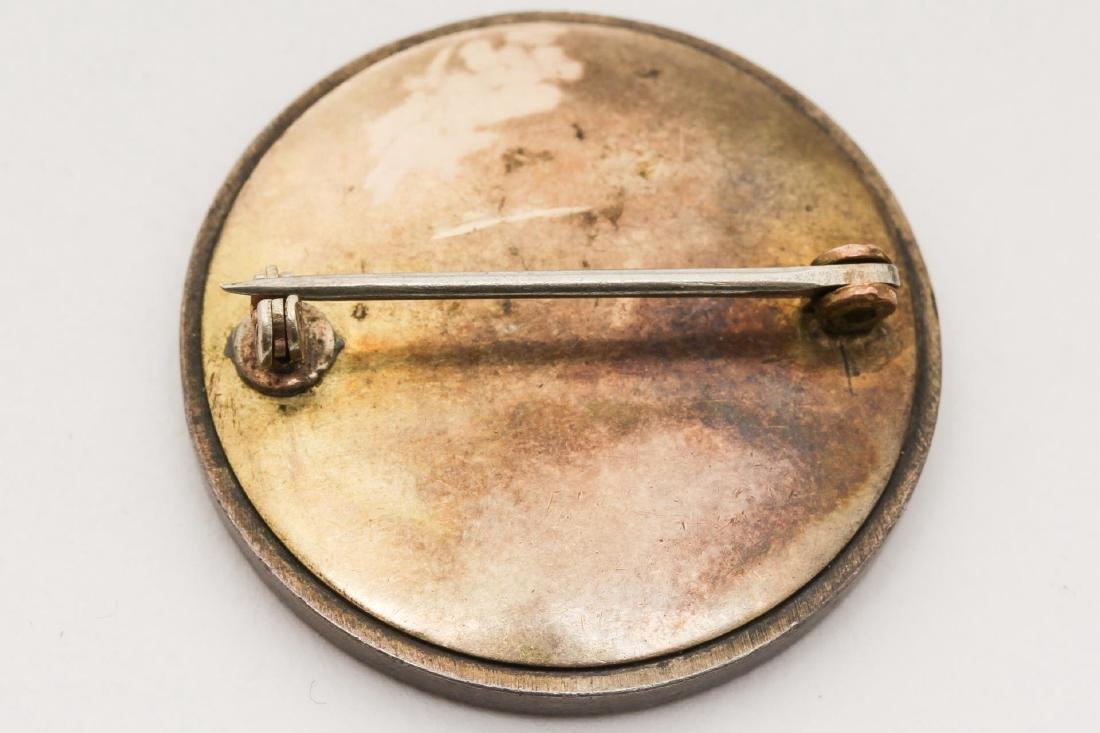 Russian Cloisonne Enameled Silver Brooch - 3