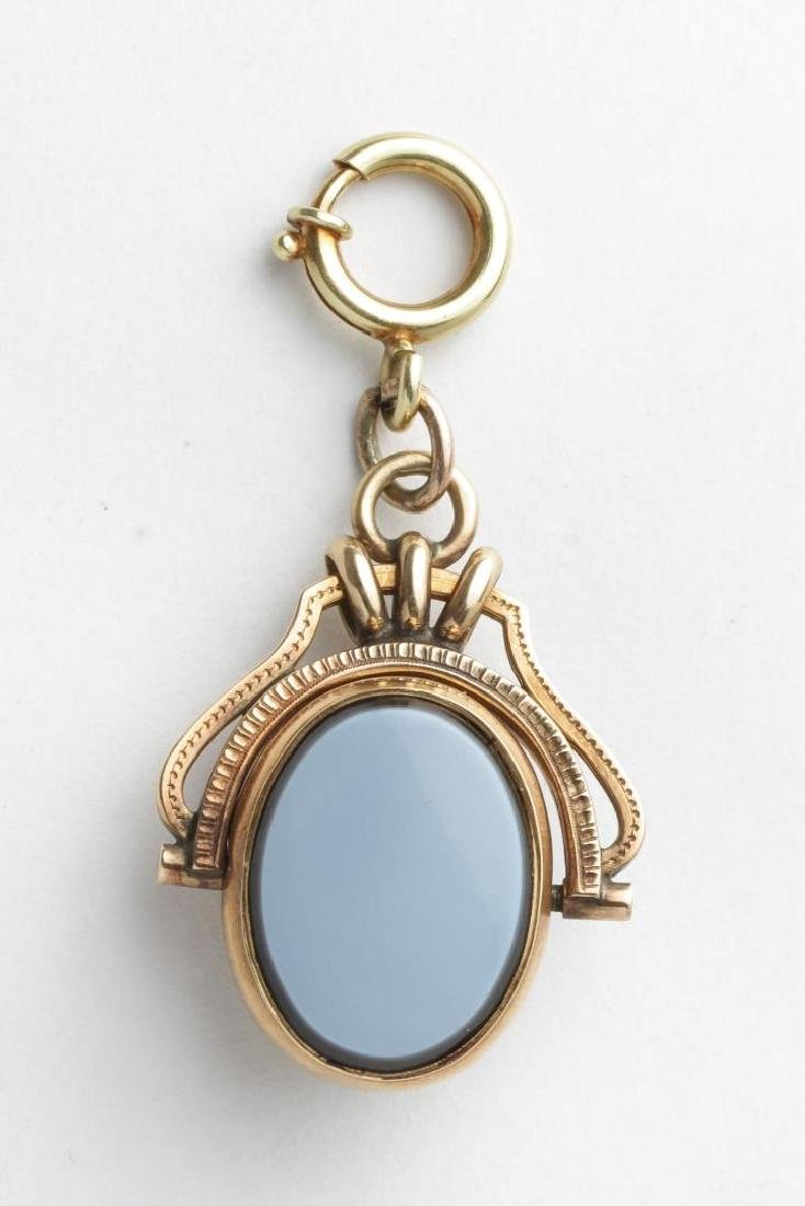 Antique Cameo, Mother of Pearl in 14K Gold Pendant - 2