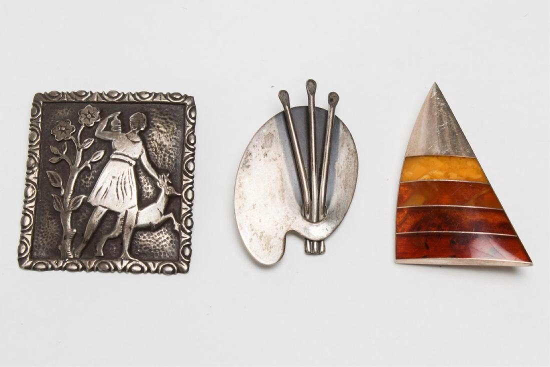 Modernist & Other Silver Pins, inc. Tone Vigland - 2
