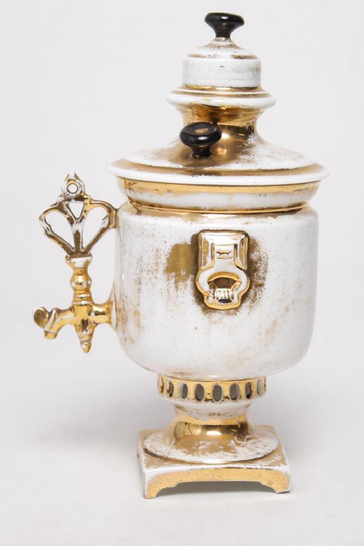 M. Kuznetsov Russian Imperial Porcelain Samovar - 4