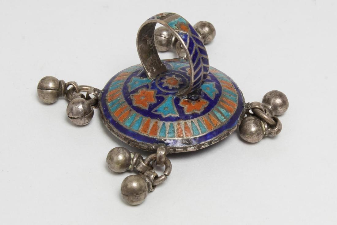 Silver & Stone-Set Rings inc. Lapis, 6 Pieces - 7