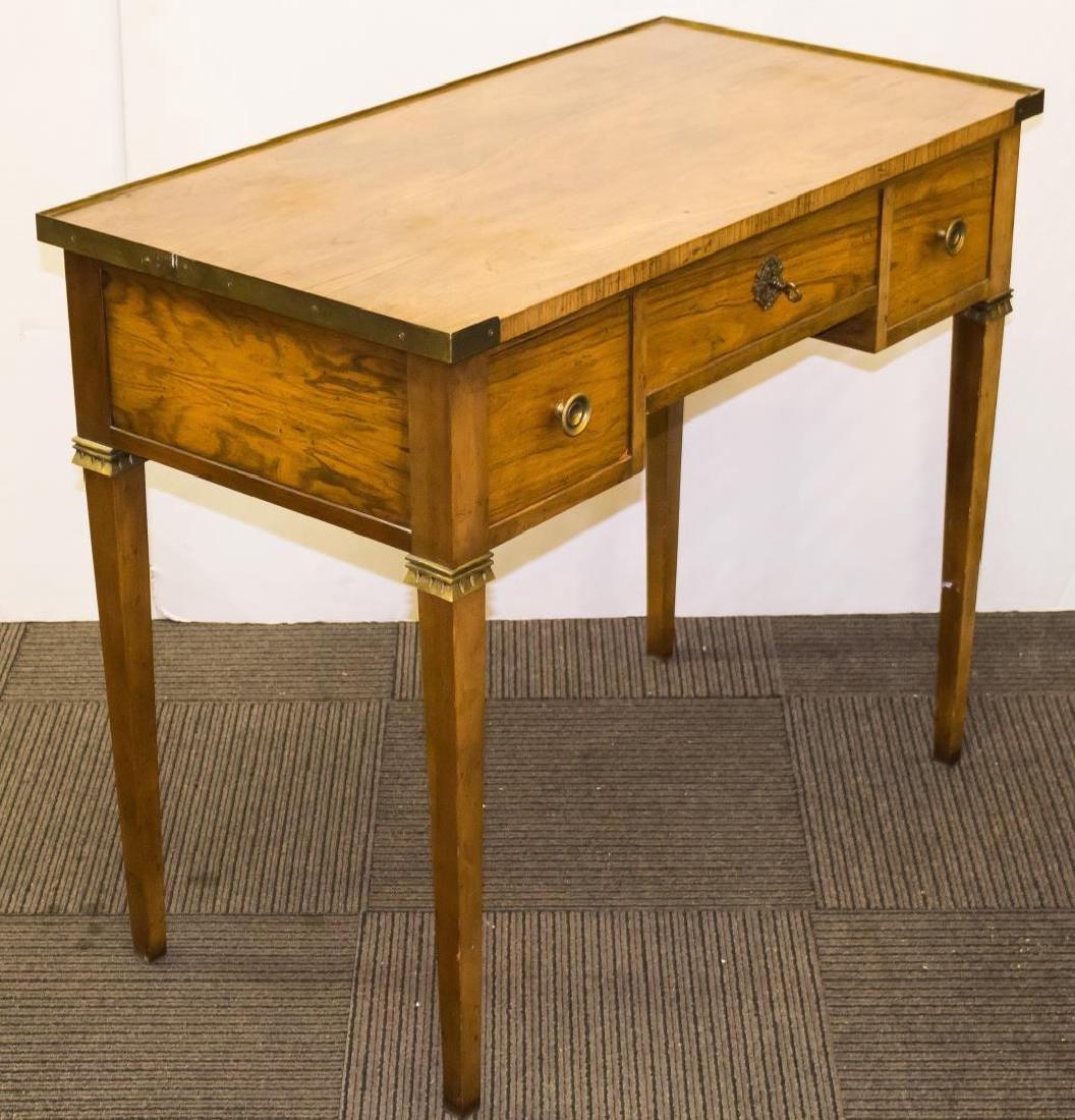 Baker Mid-Century Modern Writing Desk, Fruitwood