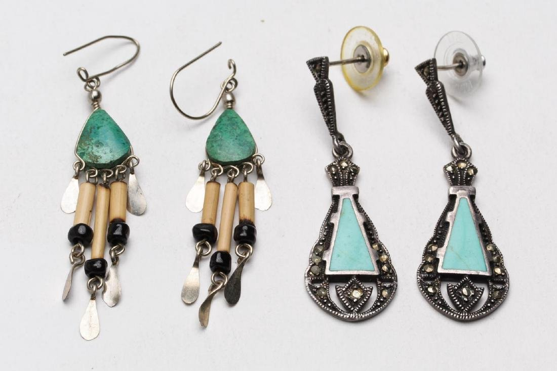 Turquoise, Silver, Brass & Silver-Tone Jewelry, 9 - 4