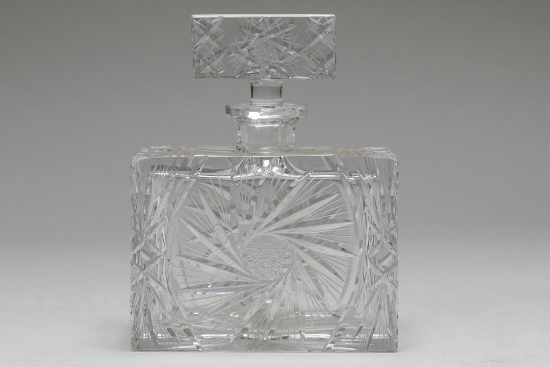 Vintage Crystal Decanters, Pinwheel-Cut, 3 Pcs - 2